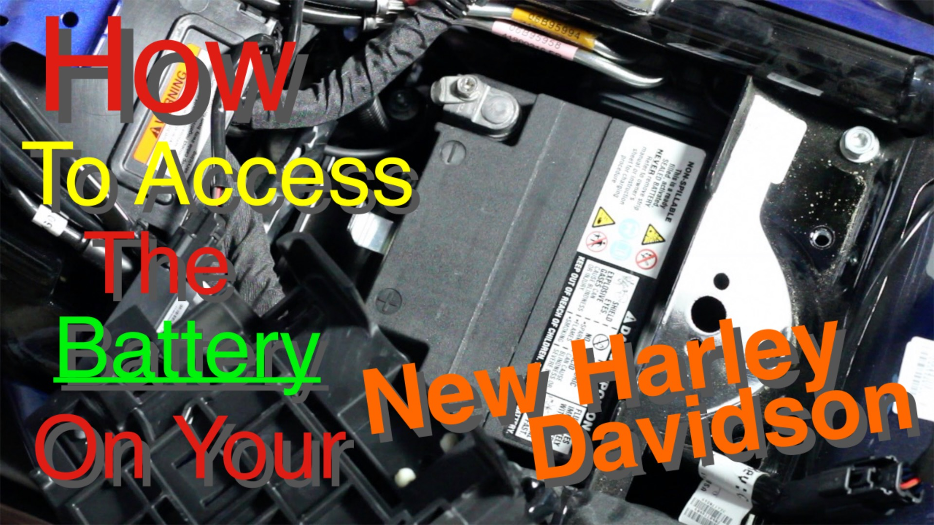 The Wiring And The Battery On A 2011 Harleydavidson Road Glide